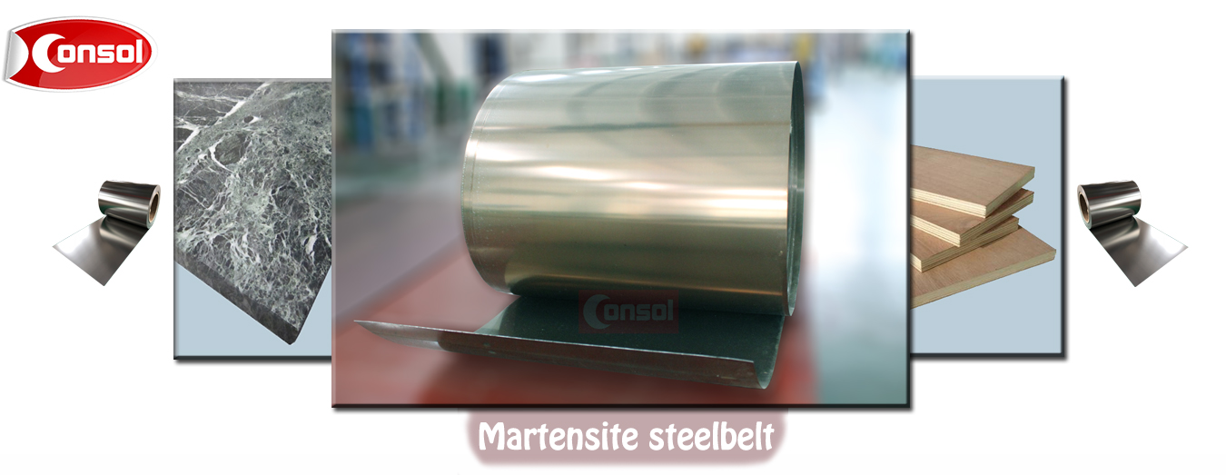 Martensitic stainless steel belt