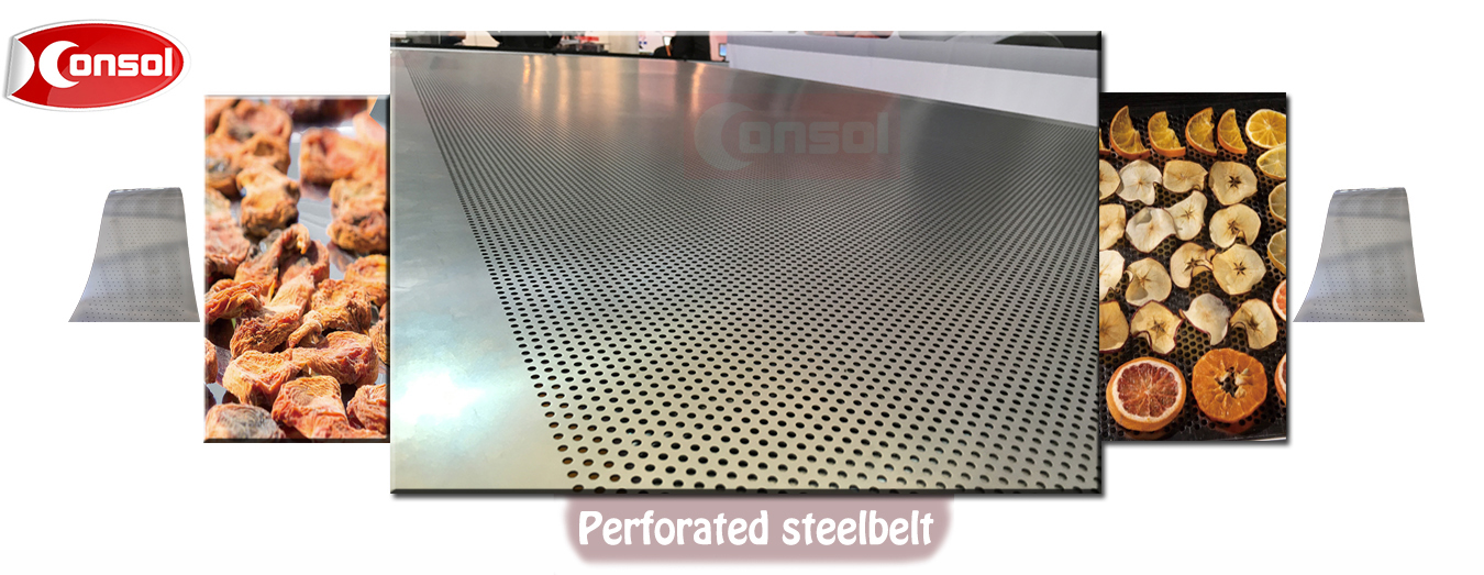 consol perforated steel belt