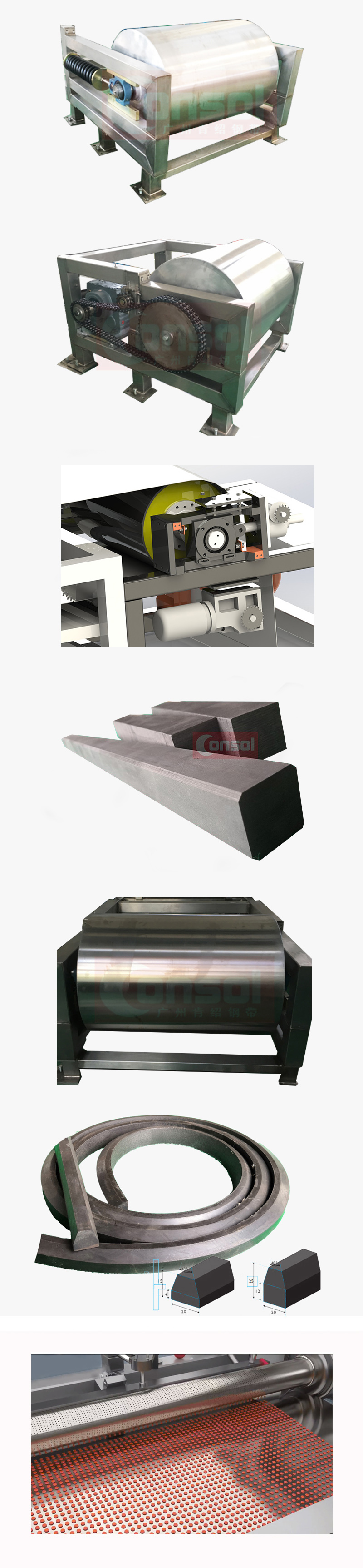 steel belt conveyor system spare parts