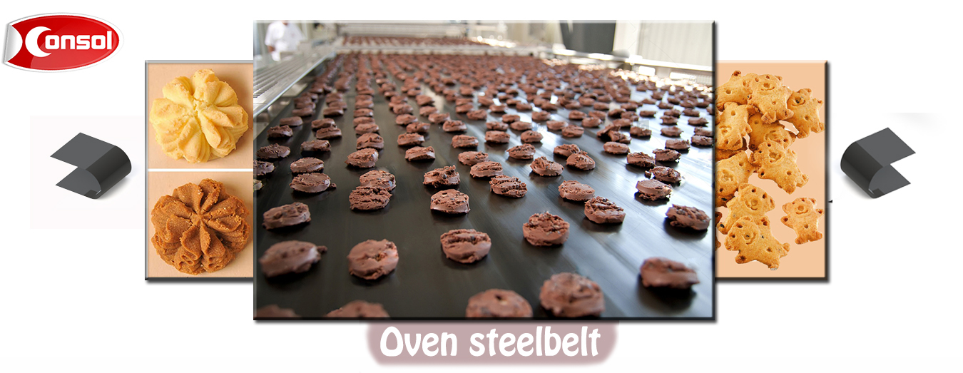 CONSOL Carbon steel belt/oven band for all kinds of cookies/biscuits baking